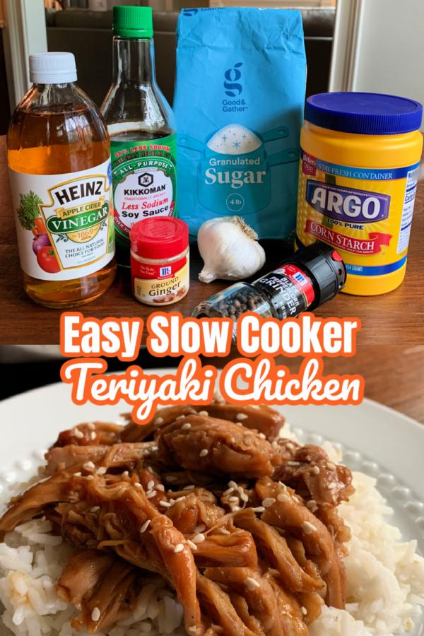 Easy Slow Cooker Teriyaki Chicken Ingredients