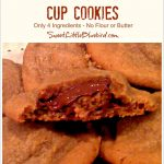 Easy Peanut Butter Cup Cookies (No Flour, No Butter Cookies)