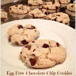Egg Free Chocolate Chips Cookies made with Cream Cheese!