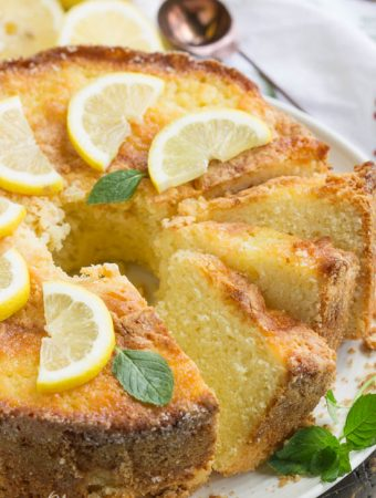 Famous Ritz Carlton Hotel Lemon Pound Cake - Weekend Potluck