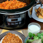 Farmhouse Crock Pot Spaghetti – Weekend Potluck 370