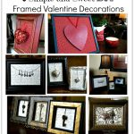 6 Simple and Sweet DIY Framed Valentine Decorations ~ Hearts and Keys