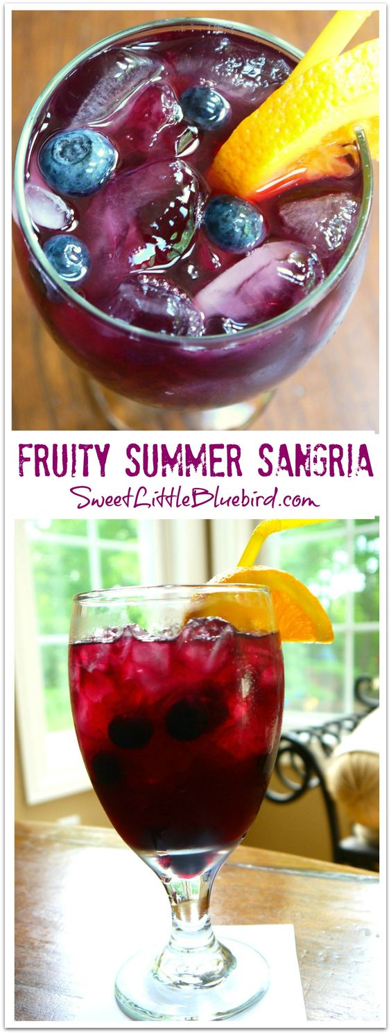 FRUITY SUMMER SANGRIA - Sweet Little Bluebird