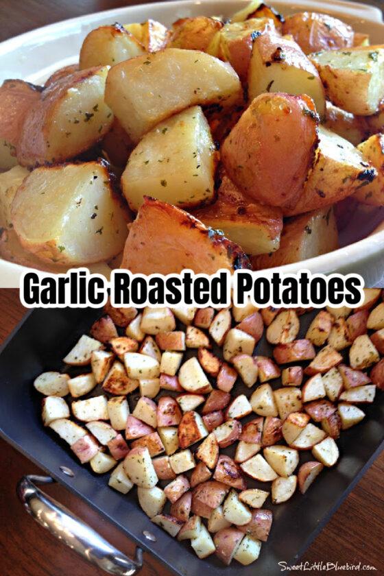 Perfect Garlic Roasted Potatoes by Sweet Little Bluebird - WEEKEND POTLUCK 496