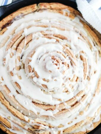 Giant Cinnamon Roll - Cooking with Carlee - Weekend Potluck 478