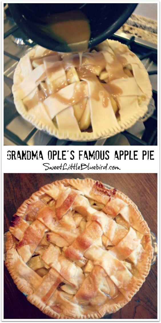 Grandma Ople S Famous Apple Pie Sweet Little Bluebird