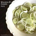 Grandma B's Cucumber Salad