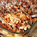 Hamburger Noodle Bake – Weekend Potluck 393