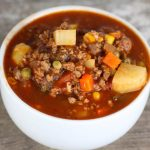 Hamburger Soup – Weekend Potluck 354