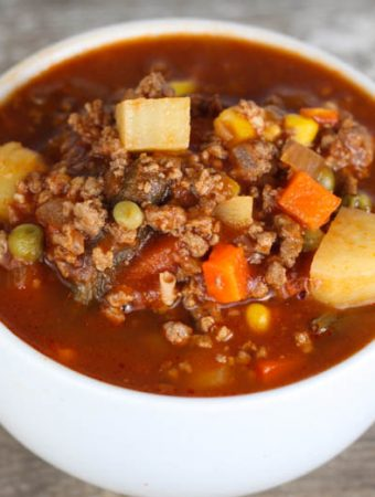 Hamburger Soup - Weekend Potluck