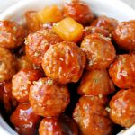 Crock Pot Hawaiian Meatballs – Weekend Potluck 356