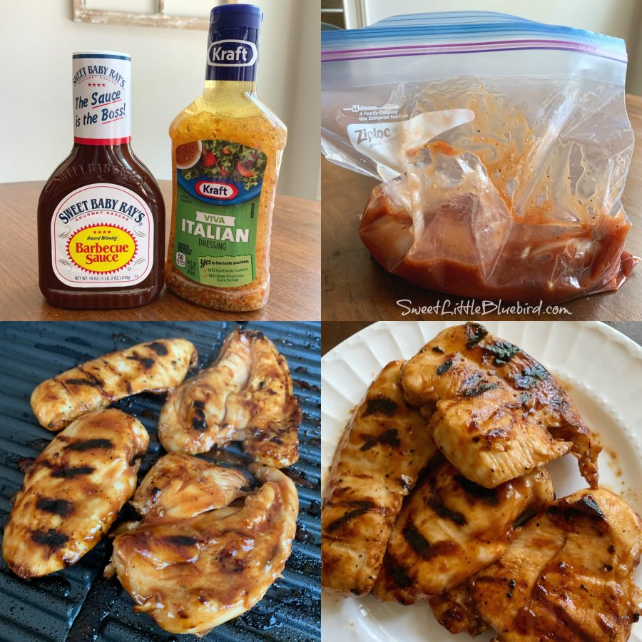 ITALIAN BBQ CHICKEN MARINADE (3-Ingredient Recipe)