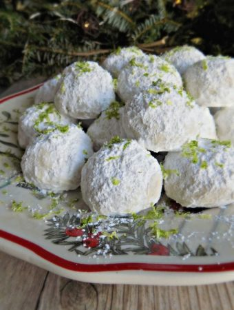 Key Lime Snowball Cookies - Weekend Potluck