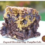 Layered Chocolate Chip Pumpkin Cake