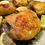 Easy Baked Lemon & Garlic Chicken Thighs