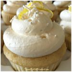 Lemon Cupcakes with Lemon Curd Filling and Lemony Whipped Cream Frosting