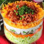 Make-Ahead Layered Salad ~  Weekend Potluck 276