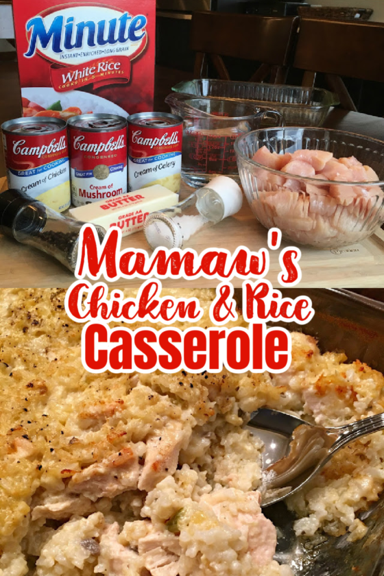Mamaw's Chicken and Rice Casserole by Sweet Little Bluebird - WEEKEND POTLUCK 472