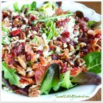 My Most Requested Recipe ~  Gorgonzola, Apple, Cherries, Pecans & Bacon Salad with a Sweet Balsamic Dressing!