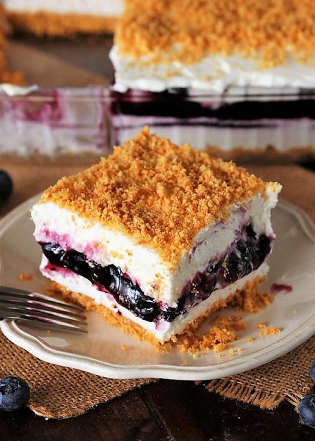 No-Bake Blueberry Yum Yum - Weekend Potluck 405