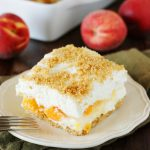 Easy No-Bake Peach Yum Yum – Weekend Potluck 230
