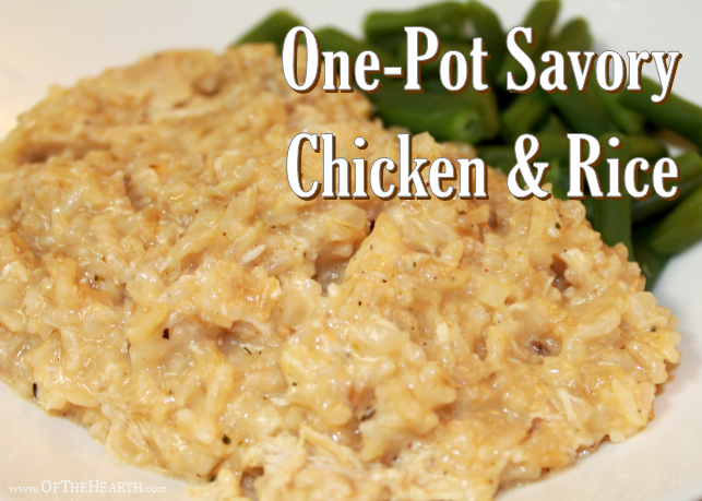 ONE POT SAVORY CHICKEN & RICE - Weekend Potluck 360