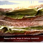 Peanut Butter, Mayonnaise and Lettuce Sandwich