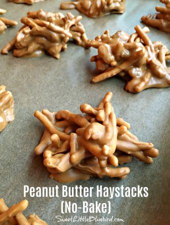 PEANUT BUTTER HAYSTACKS (NO-BAKE) - Sweet Little Bkuebird