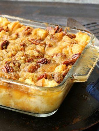 Pecan Pie Bread Pudding - Weekend Potluck