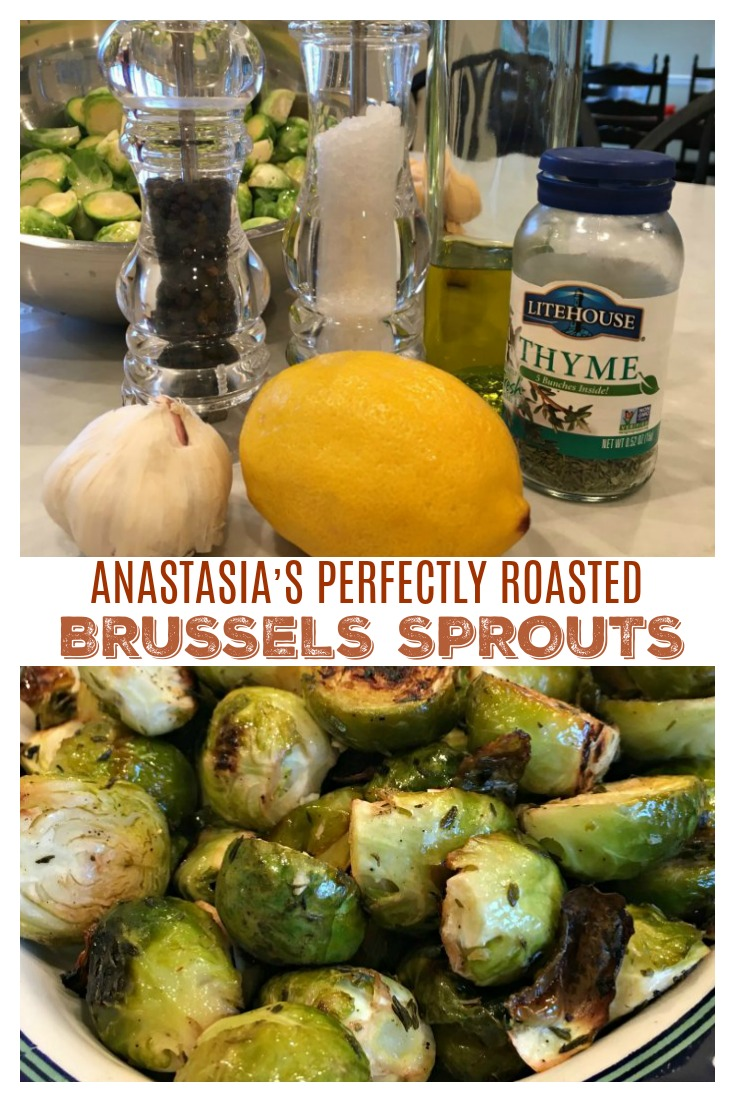 PERFECTLY ROASTED BRUSSELS SPROUTS - Sweet Little Bluebird