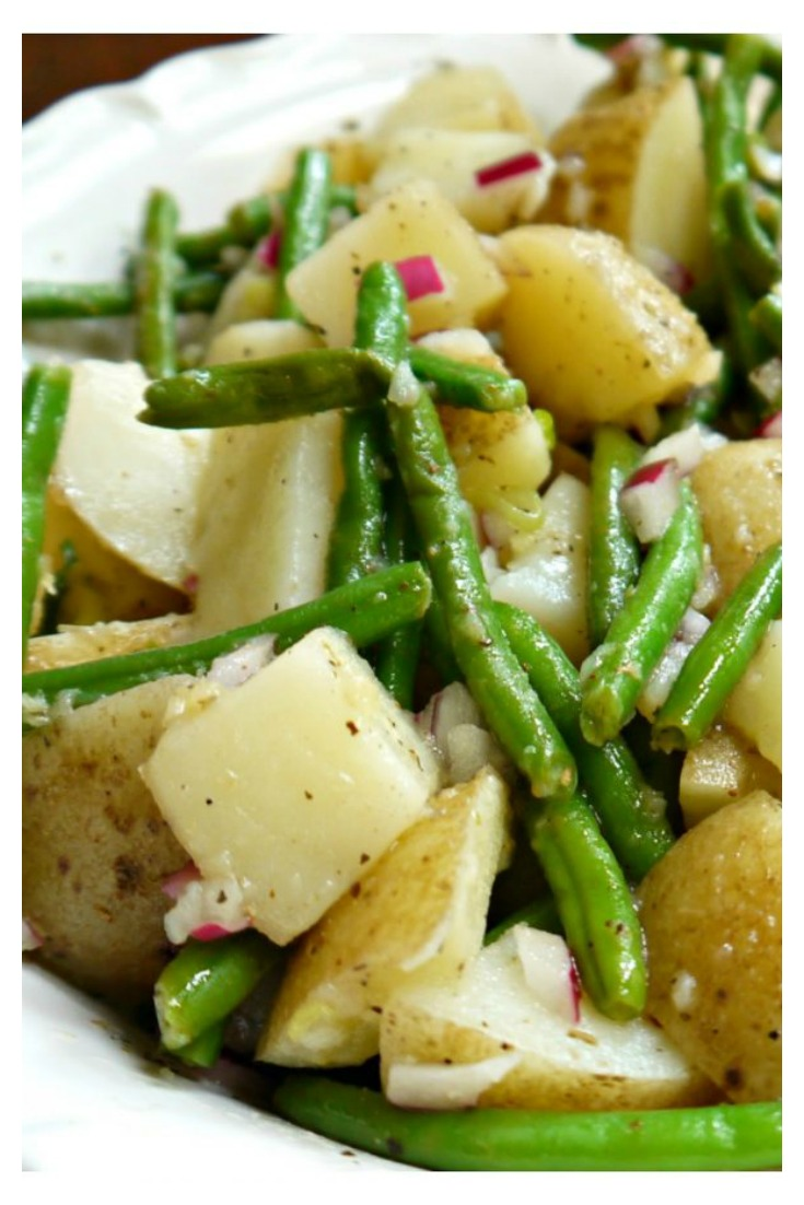 Potato and Green Bean Salad from Sweet Little Bluebird