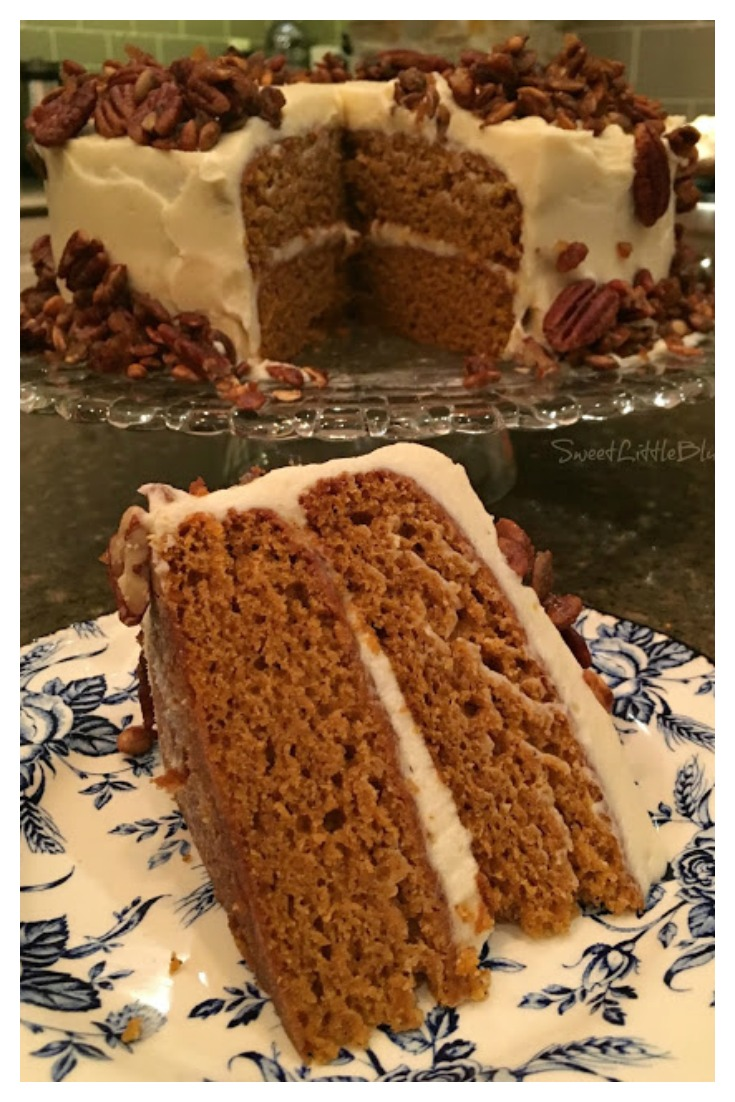 The BEST Pumpkin Layer Cake - Tried and True by Sweet Little Bluebird