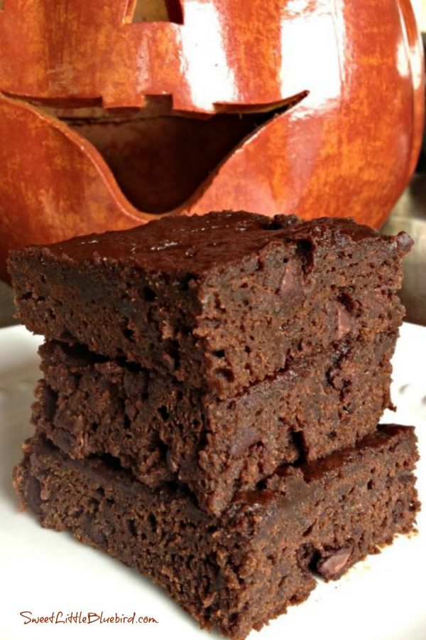 Pumpkin and Spice Double Chocolate Brownies