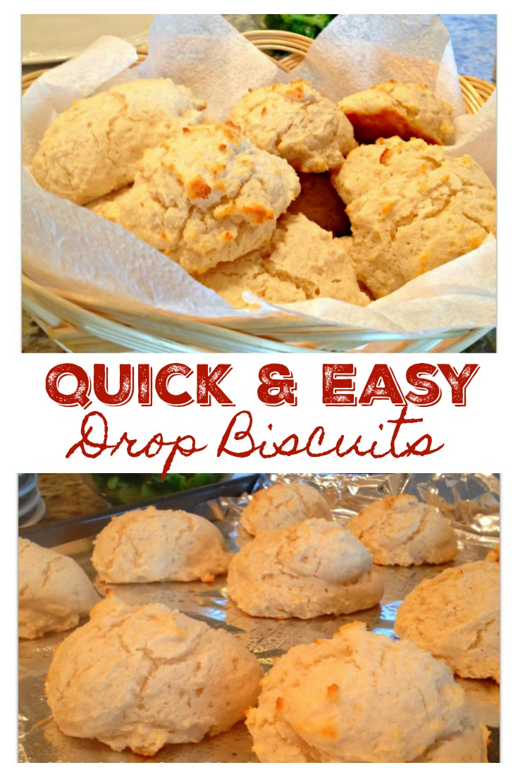 QUICK & EASY DROP BISCUITS from Sweet Little Bluebird