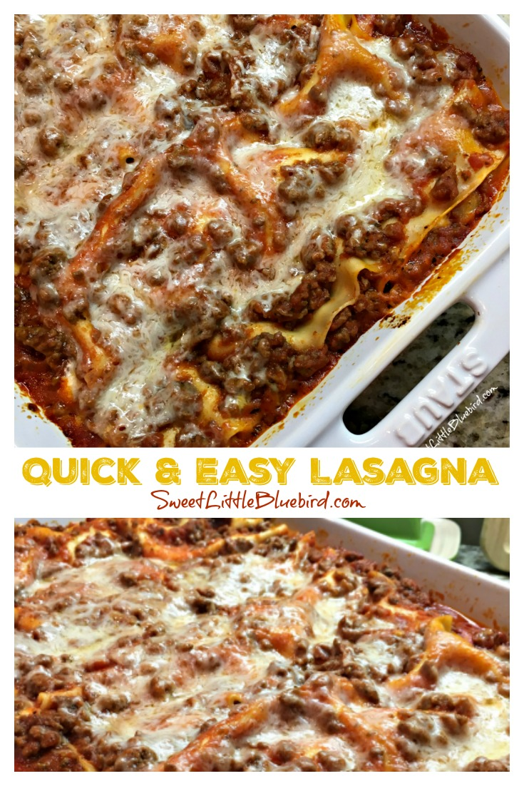 QUICK & EASY LASAGNA - Sweet :Little Bluebird