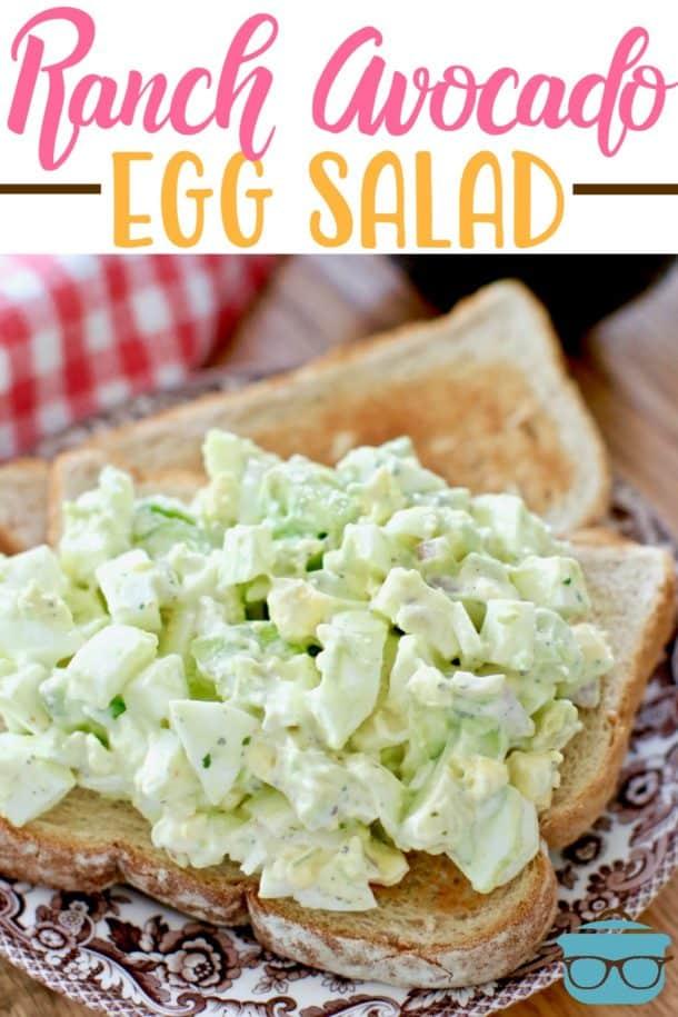Ranch Avocado Egg Salad - Weekend Potluck