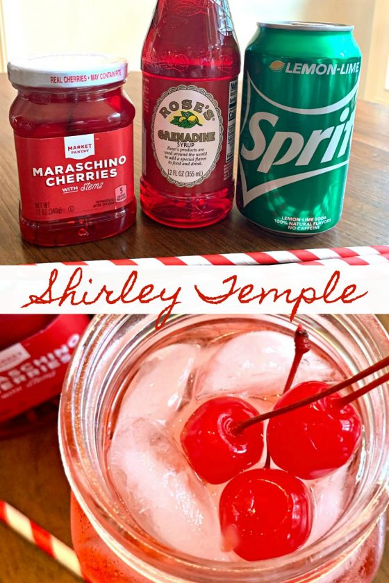 Shirley Temple Mocktail by Sweet Little Bluebird - WEEKEND POTLUCK 456