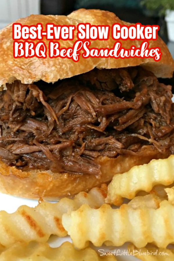 BEST-EVER SLOW COOKER BBQ BEEF SANDWICHES (EASY)