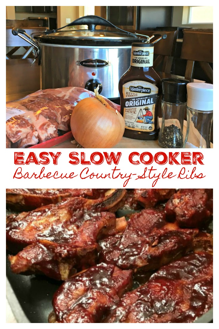 EASY SLOW COOKER BARBECUE COUNTRY-STYLE RIBS - Sweet Little Bluebird