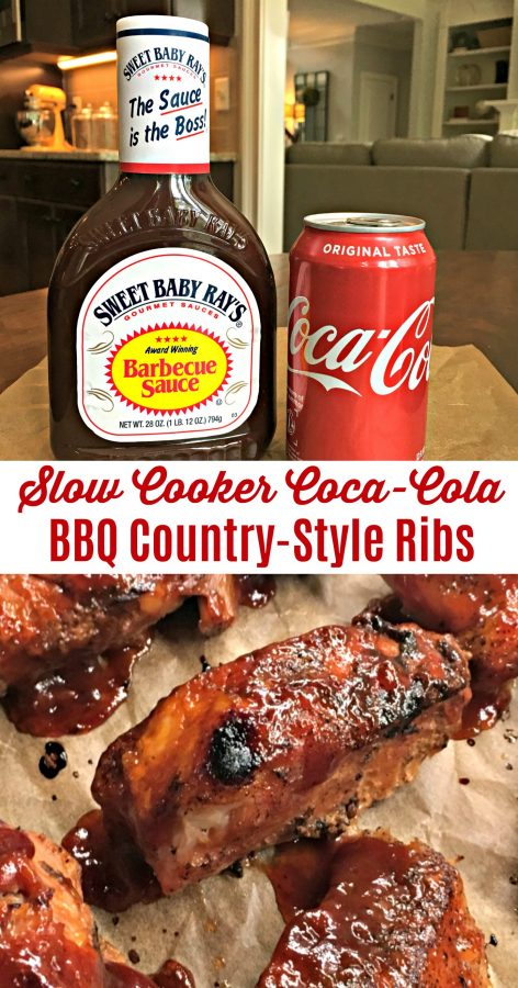 SLOW COOKER COCA-COLA BBQ COUNTRY STYLE RIBS (3-INGREDIENTS)