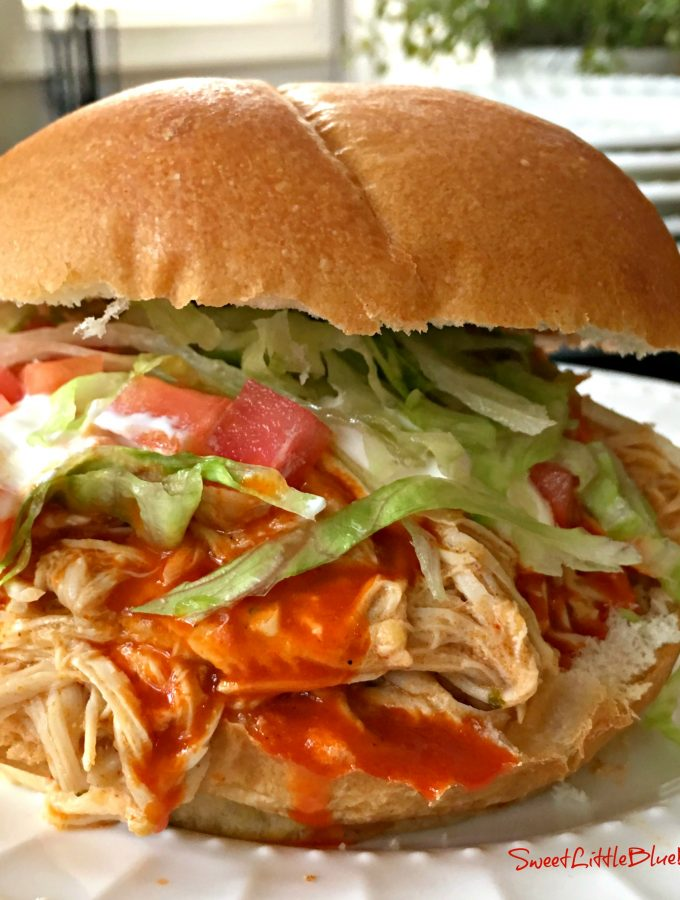 Slow Cooker Fiesta Chicken - Shredded Mexican Chicken for Sandwiches, Rice Bowls, Tacos and Burritos