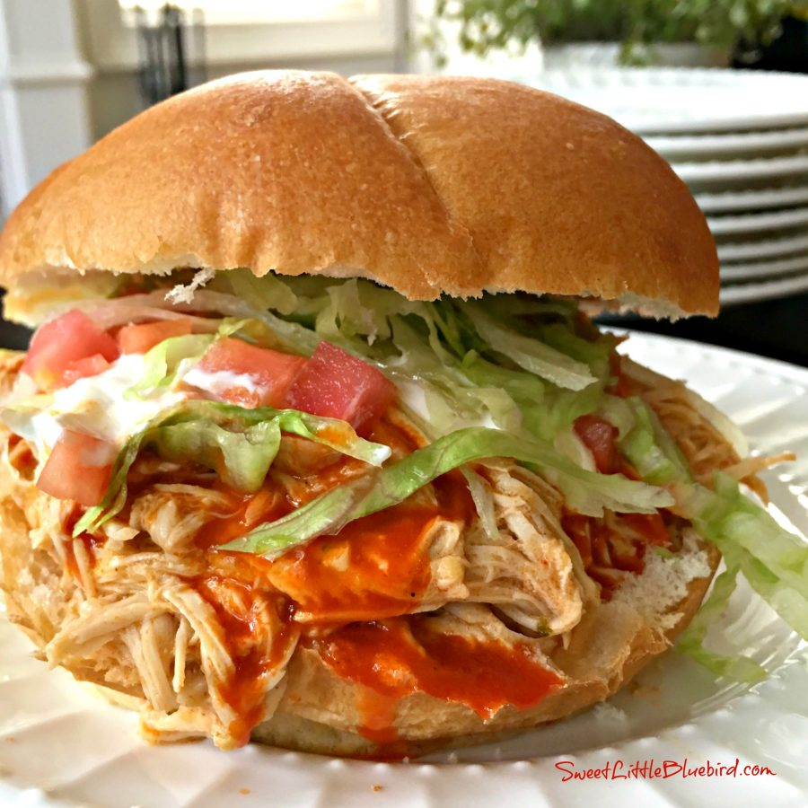 Slow Cooker Fiesta Chicken Sandwich