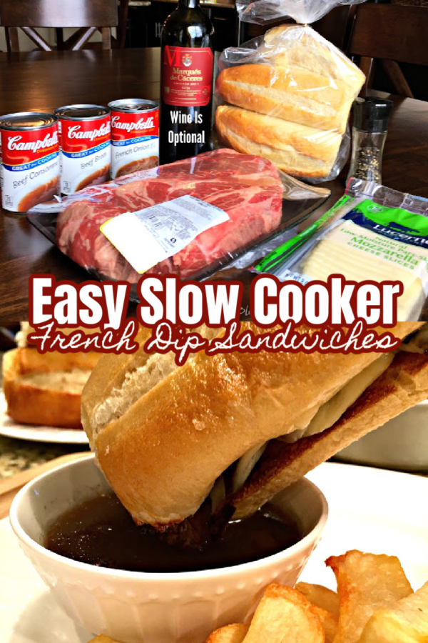 SLOW COOKER FRENCH DIP SANDWICHES (EASY)