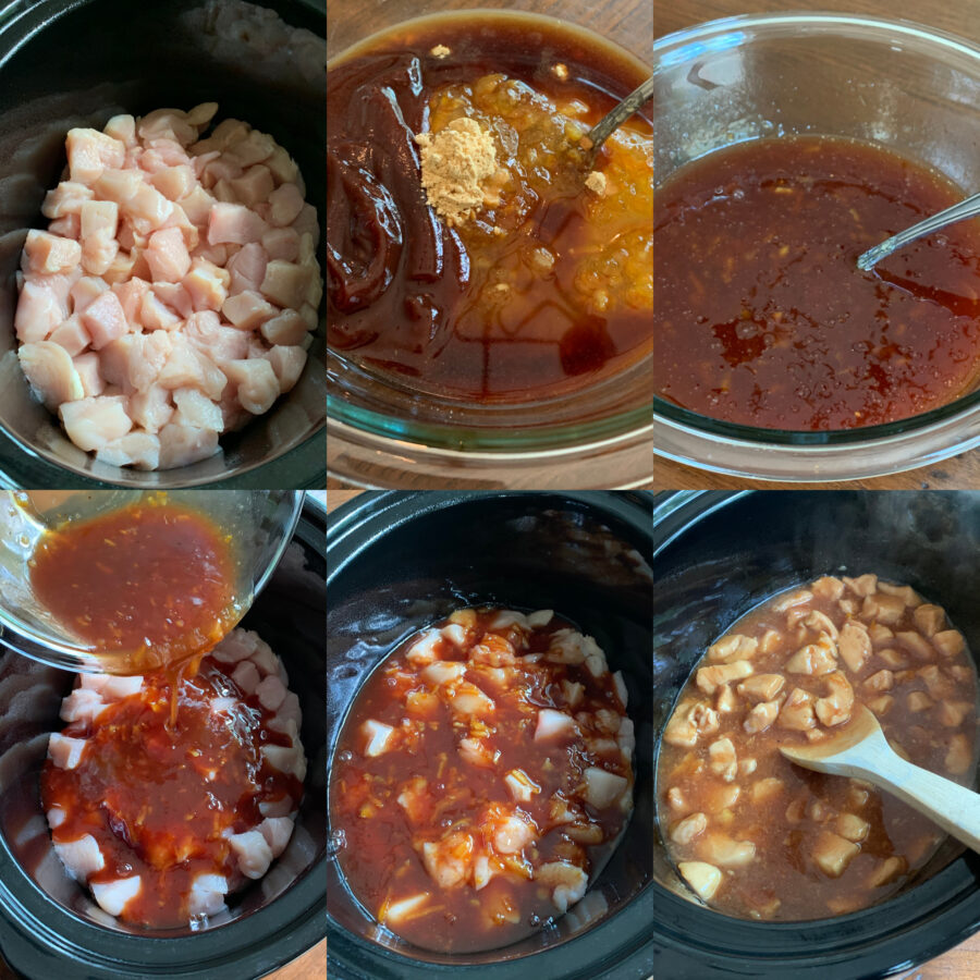 Easy Slow Cooker Orange Chicken Photo Tutorial on How To Make Recipe