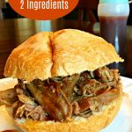 Slow Cooker Pulled Pork Sandwiches (2 Ingredients)