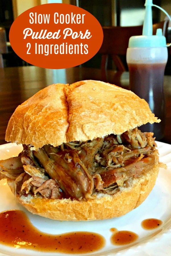 SLOW COOKER PULLED PORK (2 Ingredients) Sweet & Smoky