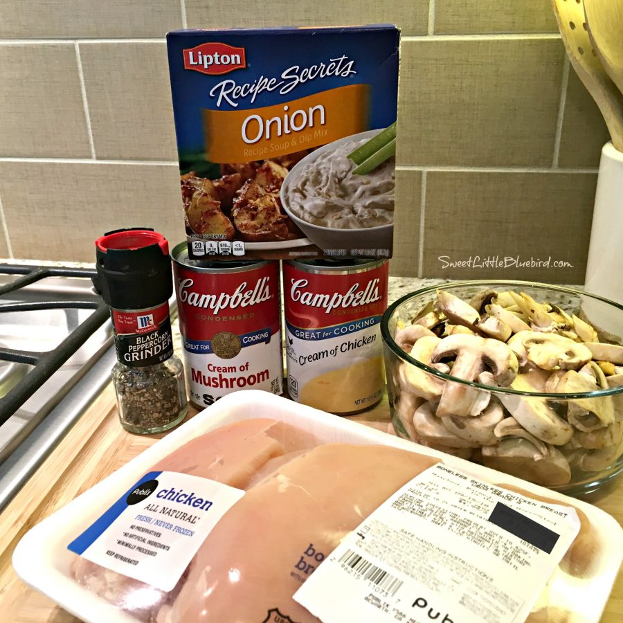 Easy Slow Cooker Smothered Chicken Ingredients