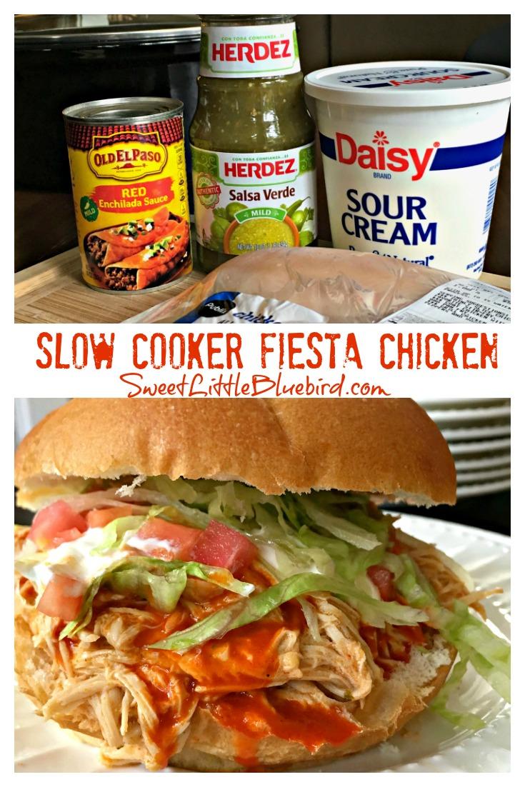 Slow Cooker Fiesta Chicken - Only 4 Ingredients