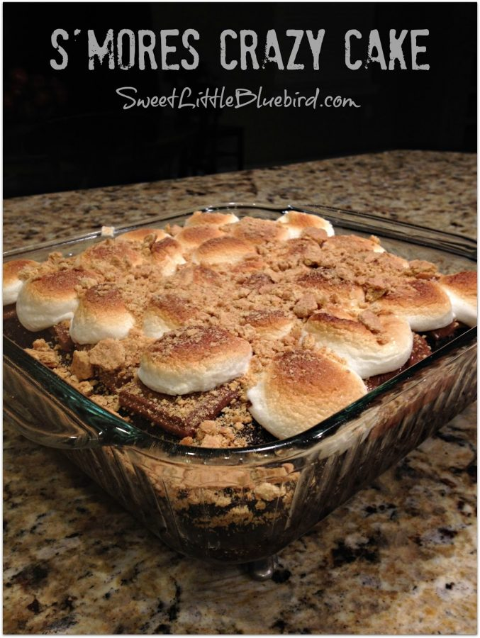 SMORES CRAZY CAKE - Sweet Little Bluebird