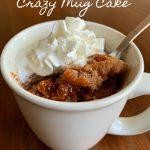 Snickerdoodle Crazy Mug Cake (No Eggs, Milk or Butter)